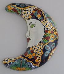 mexican talavera ceramic moon face wall decor hanging pottery folk art 26 on talavera ceramic wall art with mexican talavera ceramic moon face wall decor hanging pottery folk