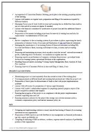 resume format for experienced accountant excellent work experience chartered accountant resume sample