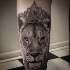 lioness tattoo.  Tattoo Black U0026 Gray Realistic Lioness Tattoo 10 Intended Lioness Tattoo
