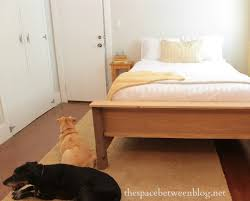 how to make a wood bed frame - the space between