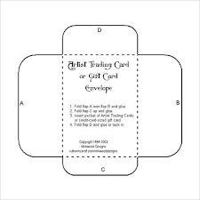Small Envelope Template For Business Card Gift Card Envelope With