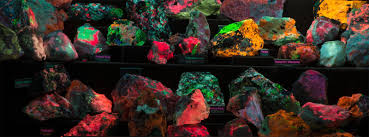 Examples Of Some Excellent Fluorescent Mineral Displays