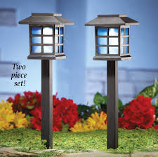 solar house pathway garden light stakes