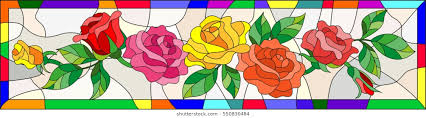 Stained Glass Flower Patterns Extraordinary Rose Stained Glass Window Images Stock Photos Vectors Shutterstock