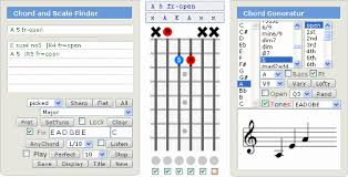 Cut Capo Chord Chart Gootar Guitar Chord Generator And Scale Finder Programs