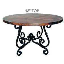 copper dining table french dining table with 48 inch round copper top