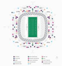 Georgia Dome Seating Map Football Seating Charts Mercedes
