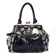 Coach Madison Pinnacle Carrie Medium Grey Satchels BWZ