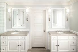 visual comfort sconces. Visual Comfort Sconces, Client\u0027s Mirrors, Limestone Countertop, Custom Cabinetry, Benjamin Moore Gray Owl Paint, Thassos Marble Tile Wainscot Sconces