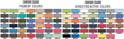 Chouinard Comfort Colors Color Chart Gildan Tee Shirt Color Chart Www Bedowntowndaytona Com