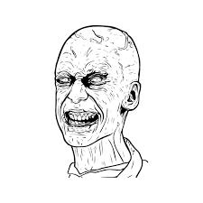 Volto Di Zombie Mostri Da Stampare E Da Colorare Gratis Disegni Da