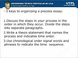 Chronological Words Chronological Order Process Essays