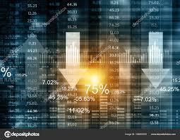 Stock Market Chart Financial Background Stock Photo