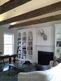 Custom home office design Wood Home Office Upgrade Including Freestanding Desk And Barn Beams Langs Kitchen Bath Custom Home Office Design Gallery Langs Kitchen Bath