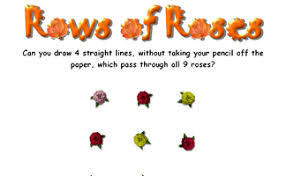 You have to go beyond the dots not just stay within them. Rows Of Roses