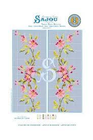 Cross Stitch Pattern Chart Reedition Flower Motif Apple Blossom