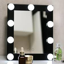 hollywood lighted aluminum table desktop wall mounted cosmetic makeup artist salon vanity girl mirror with lights bulbs around cosmetic mirror bulb cosmetic