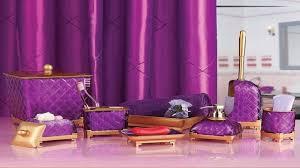 Purple Bathroom Accessories Set Lavender Bathroom Decor Pink And Purple Bathroom Purple And Gold