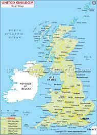بريطانيا العظمى خريطة - خريطة مفصلة من بريطانيا العظمى (شمال أوروبا -  أوروبا)