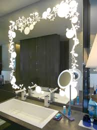Wonderful Wall Mounted Vanity Mirror With Ligts Added Single Undermount  Sink As Decorate In Closet Room Designs