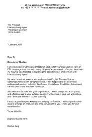 Sample Cover Letter For English Teacher Business English