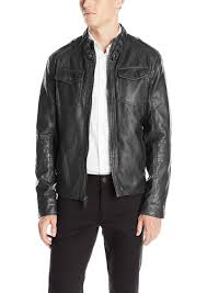 kenneth cole reaction men s distressed faux leather moto jacket