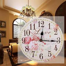 Decorative Wall Clocks For Living Room Classic Large Wall Clocks Retro Wooden Hanging Silent Vintage