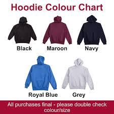 Hoodie Colour Chart Wslsa Hoodie Male Western Sydney Law Students Association Inc