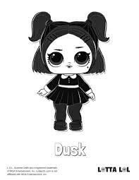 Dusk Lol Surprise Doll Coloring Page Dusk And Dolls Con Lol Surprise