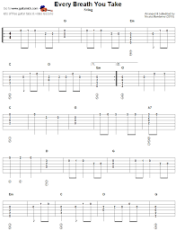 Learn songs including pumped up kicks and save 10% on fender. Every Breath You Take Guitar Tab With Melody And Chords Guitar Tabs Acoustic Guitar Tabs Guitar Tabs Songs
