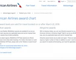 American Airlines Award Travel Chart American Airlines Is Changing Their Award Chart