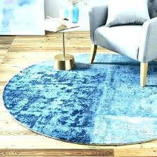 Round Teal Rug 5 Foot Rugs Ft Superb And Blue Jute Horse By 8