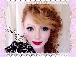 big eyes dolly autumn makeup tutorial 人形メイク 生きている人形 you