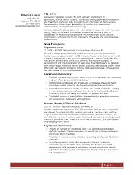 Student Nurses Resumes Elegant Sample Resume Nursing Student No