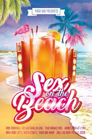 Beach Flyer Day Night Cocktail Party Free Flyer Template For Cocktail Beach