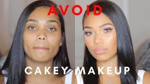 how to avoid cakey makeup tutorial dry oily skin briana monique
