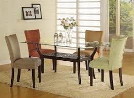 Glass top dining tables with wood base 9