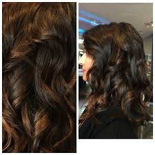 Dark Brown With Balayage Highlights