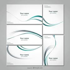 Product Line Card Template Business Stationery Template Vector Free Download