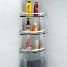 Bathroom Glass Corner Shelves Shower New Glass Shelves Bathroom Wall Aluminum 32 Tier Glass Shelf Shower