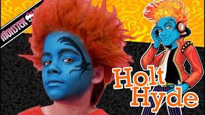 holt hyde monster high doll costume makeup tutorial for