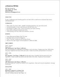 Chef Resume Example Cook Resume Example Cook Resume Objective Sushi