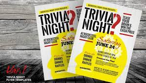 trivia night flyer templates free trivia night flyer template pub quiz flyer template awesome