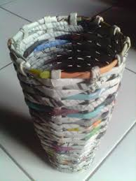 Recycled Flower Paper Flower Vase Recycled Newspapers Craft