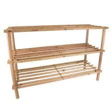 12 pair 3 tier wooden shoe rack