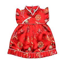 Buenos Ninos Girls Short Sleeve Cheongsam Baby ... - Amazon.com