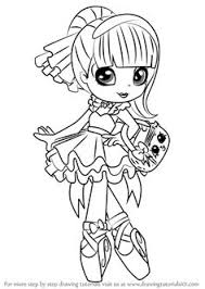 Shoppie Coloring Pages Cozy Print Shopkins Girl Say Hi Sew You Can