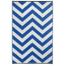 chevron indoor outdoor area rug royal blue