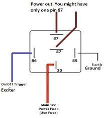 12v 5 pin relay wiring diagram bosch 4 pin relay wiring diagram at 12vdc Relay Wiring Diagram