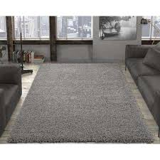 contemporary solid grey 5 ft x 7 ft area rug